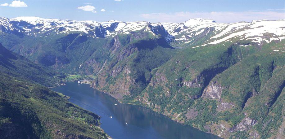 Aurlandsfjord Photo: Fjord Norway/Finn Loftesnes
